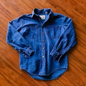 Vintage Levis Denim Button Up Shirt